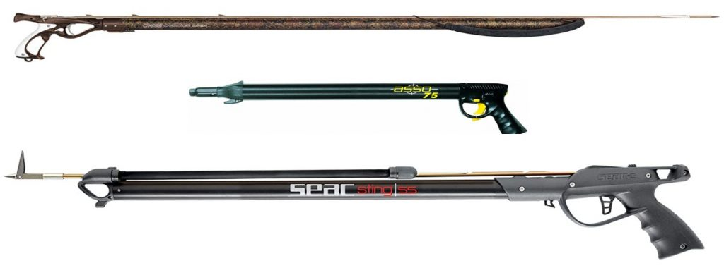 fucili da pesca ad elastico e ad aria compressa