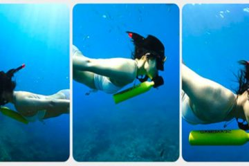 snorkler con mini bombola da sub